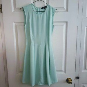 Lovely Mint Dynamite Pleated Fit and Flare Dress